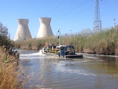 Sewage Dredge Rehabilitating Polluted Kishon River In Israel