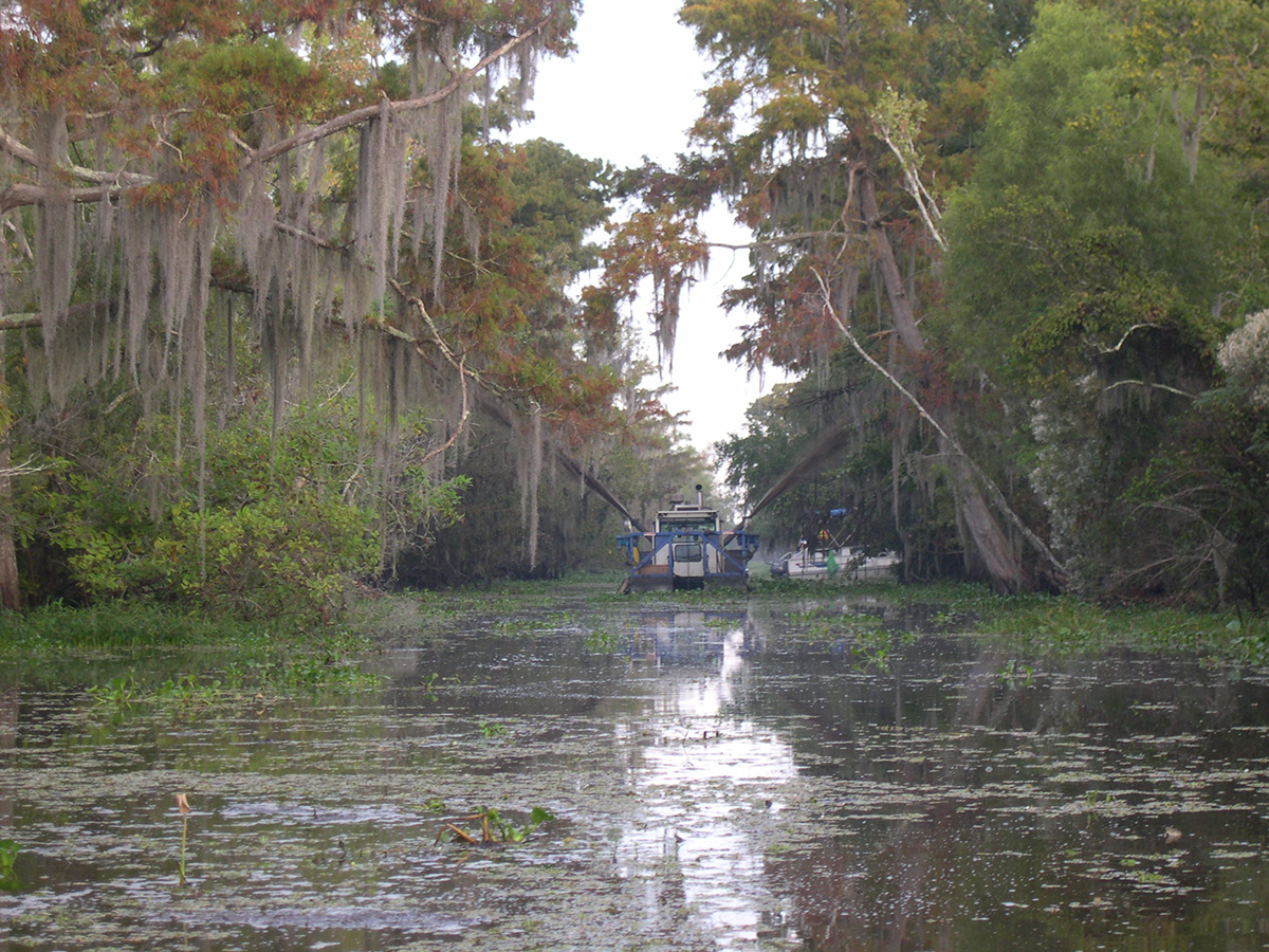 Canal Dredging In Jean Lafitte National Park